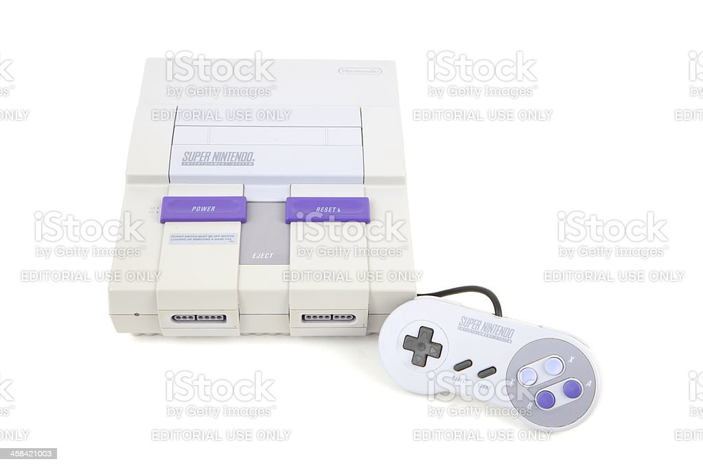 Super Nintendo Entertainment System stock photo