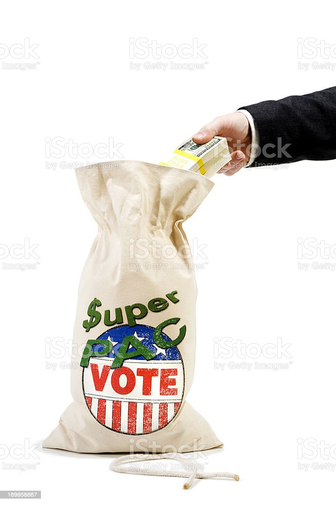 Super PAC - Businessman stock photo