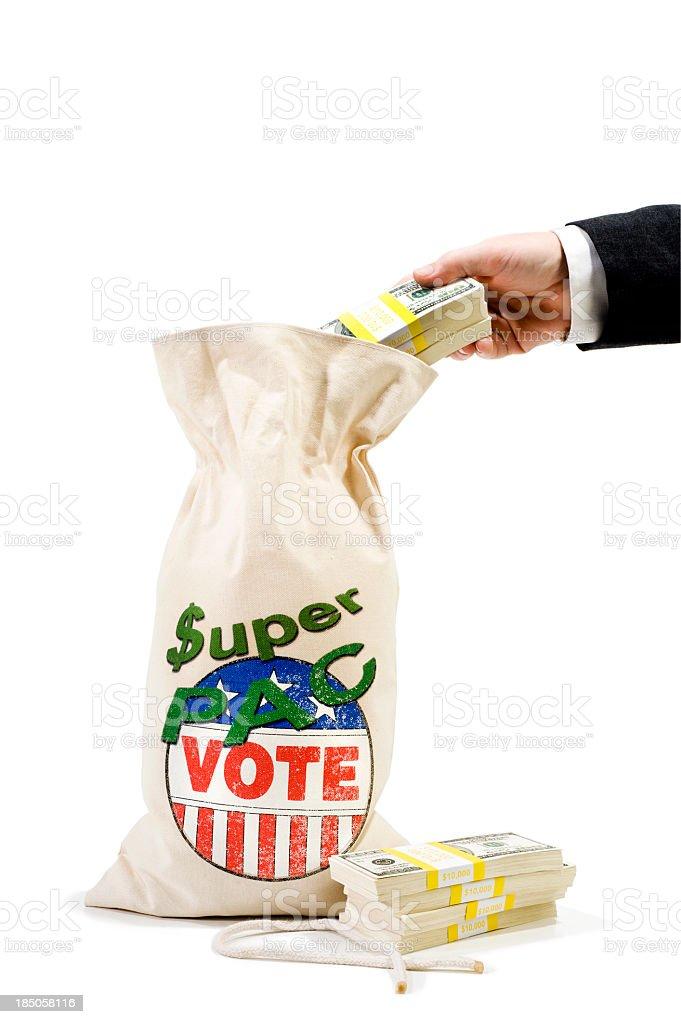 Super PAC - Businessman stock photo