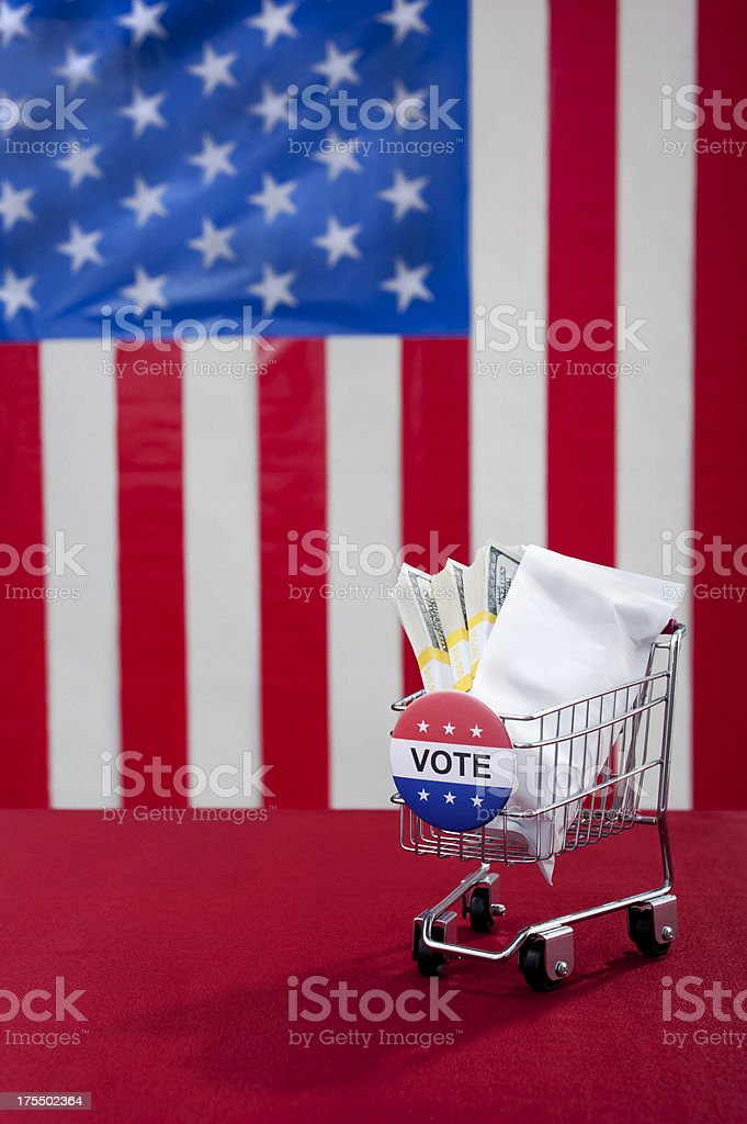 Super PAC Buying an Election stock photo
