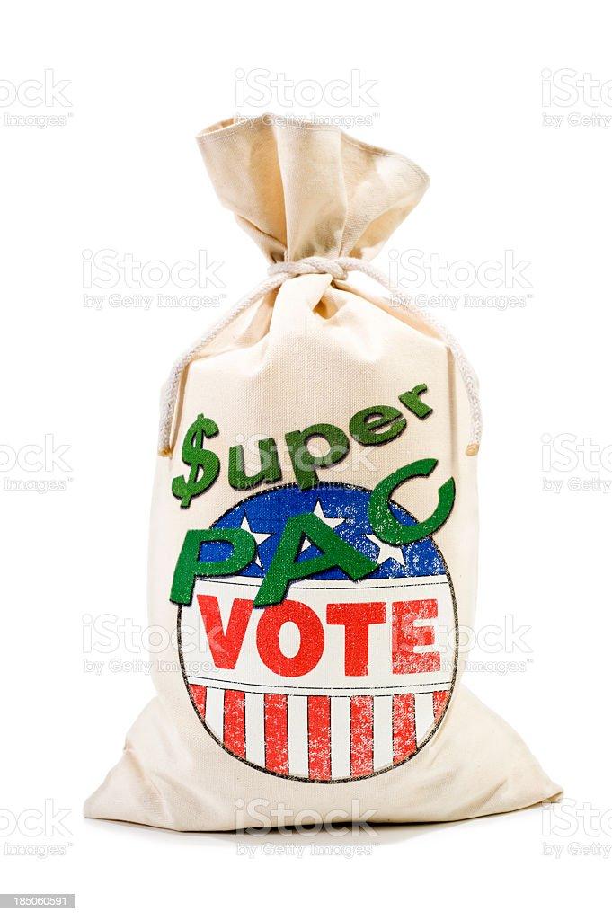 Super PAC - Contributing stock photo