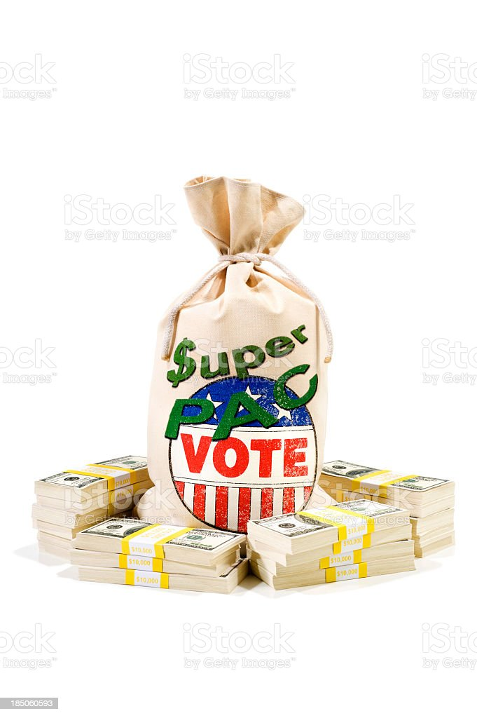 Super PAC - Contributing stock photo