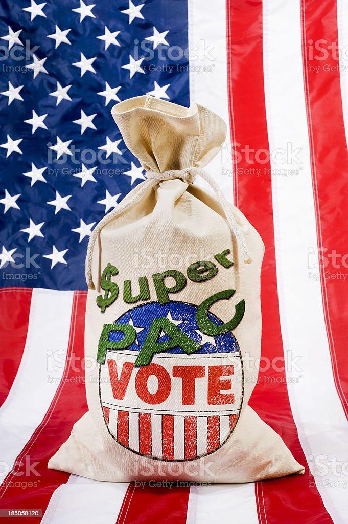Super PAC - Flag stock photo