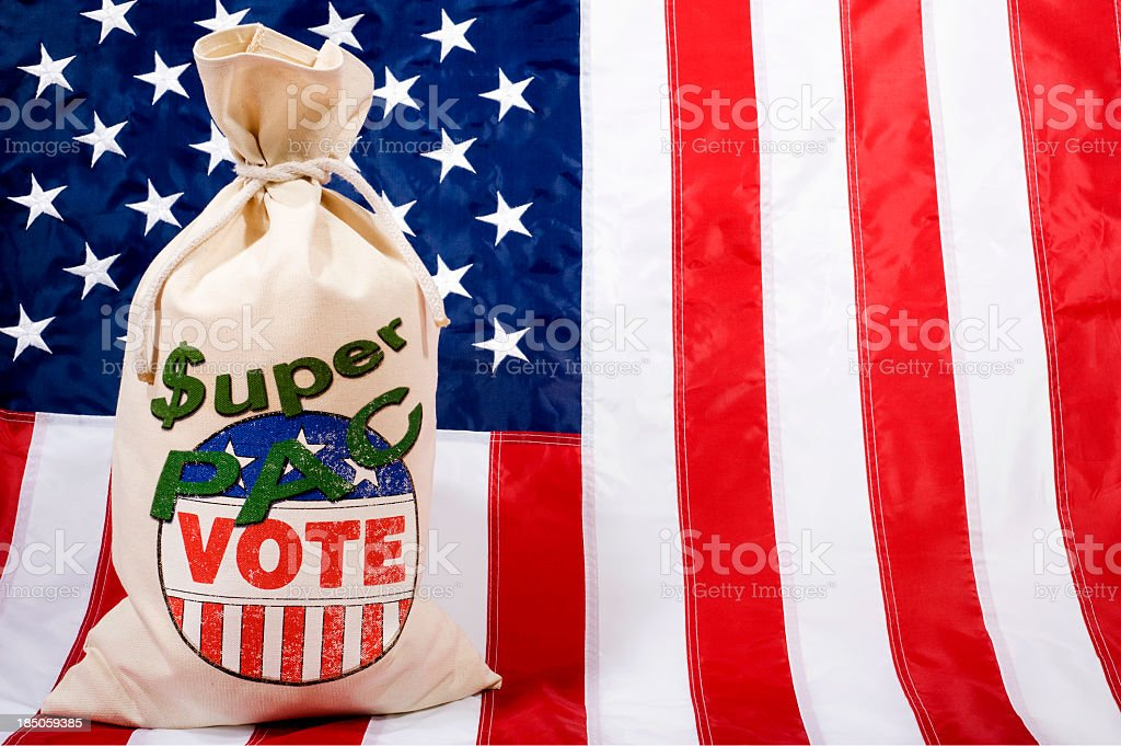 Super PAC - Flag stock photo
