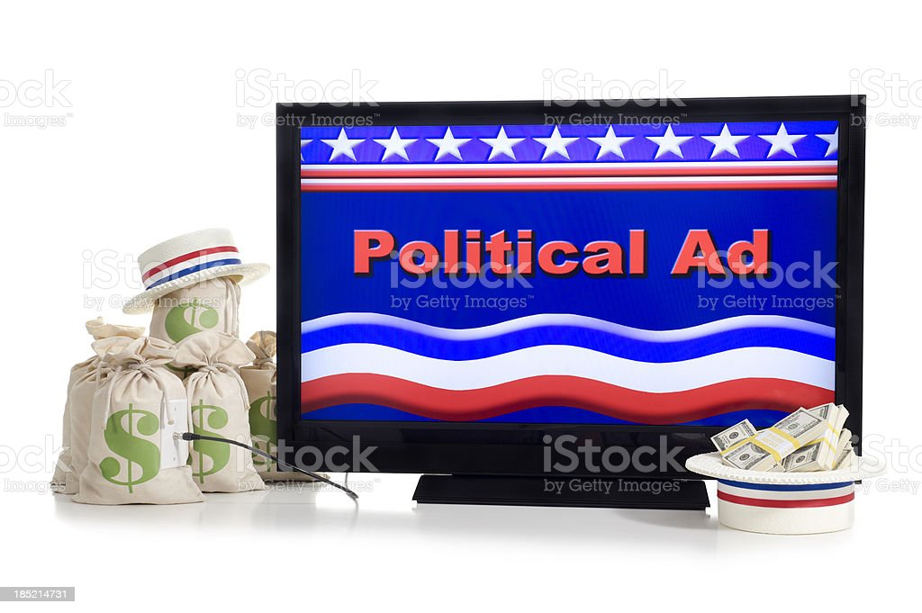 Super PAC - TV Ads stock photo