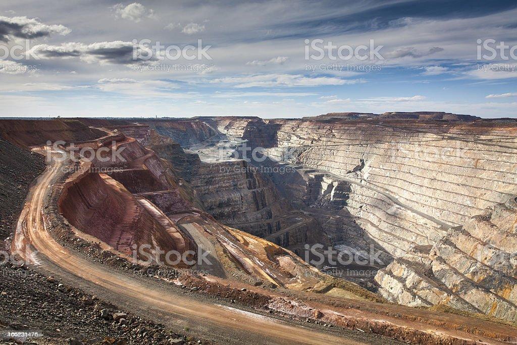 Super Pit Gold Mine in Australia royalty-free stock photo