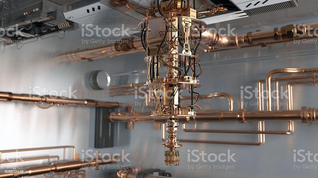 Super Quantum Computer stock photo