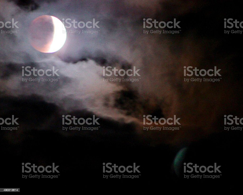 Super Red Moon Lunar Eclipse Image 3 stock photo