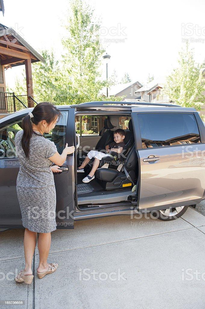 Super Safe Minivan royalty-free stock photo