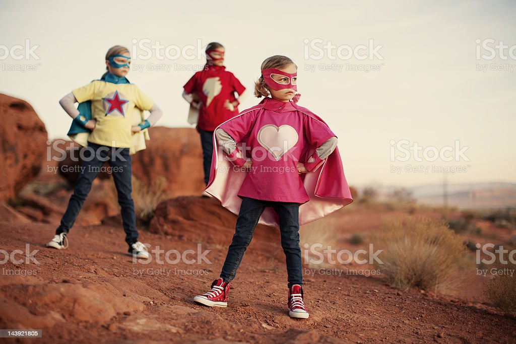 Super Sisters royalty-free stock photo