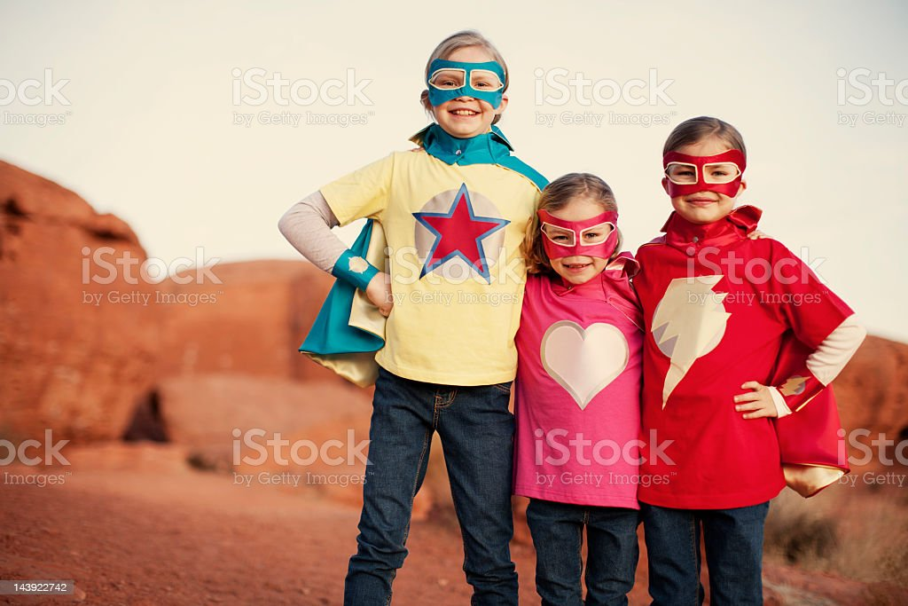 Super Sisters stock photo