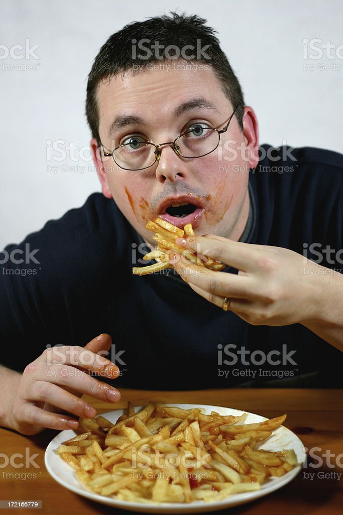 Super Size Me: Caught. royalty-free stock photo