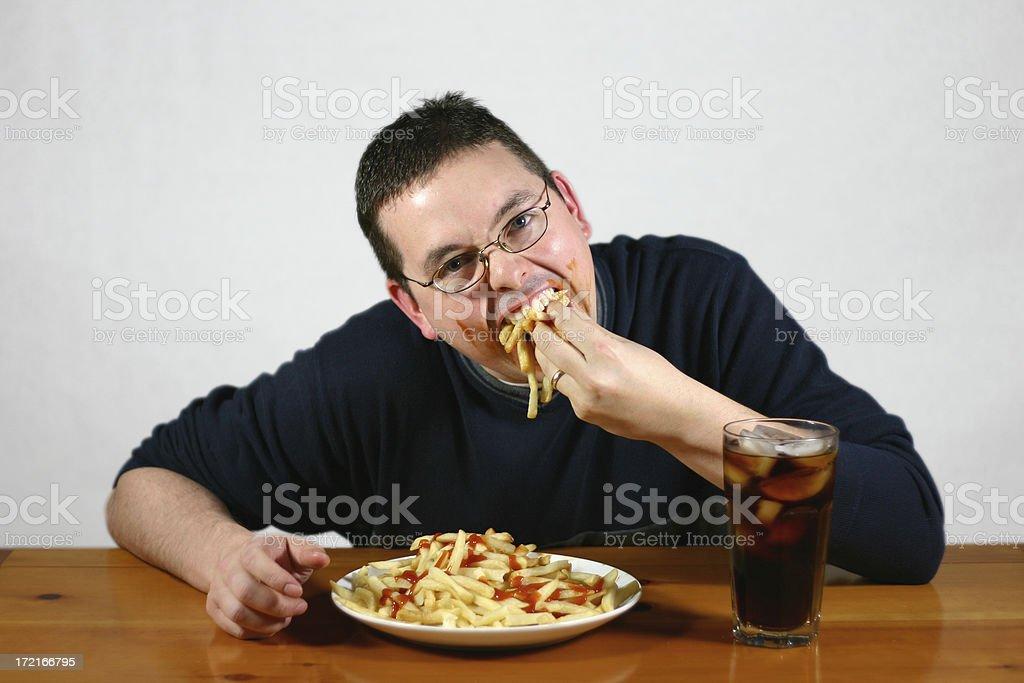 Super Size Me: Take a Bite. stock photo