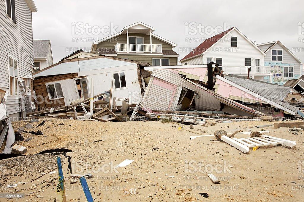 Super Storm Sandy devastation royalty-free stock photo