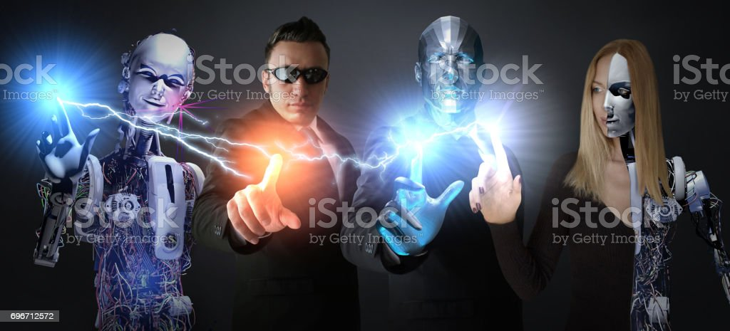 Super Strong Heroes stock photo