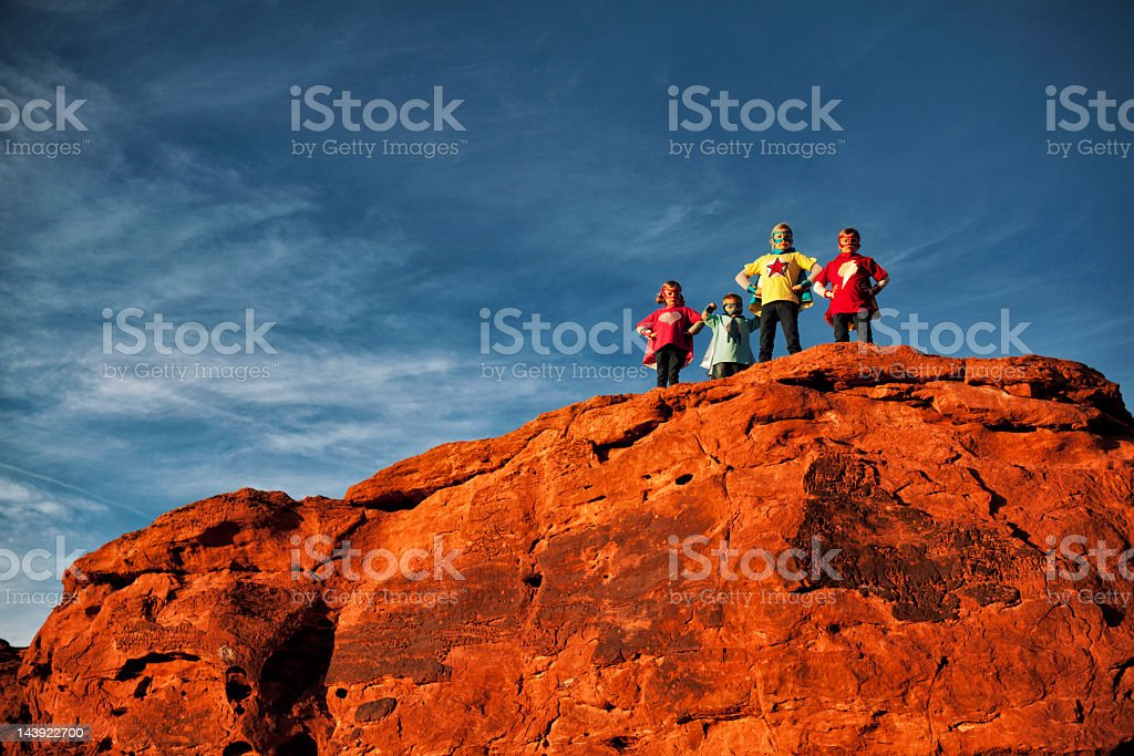 Super Team royalty-free stock photo