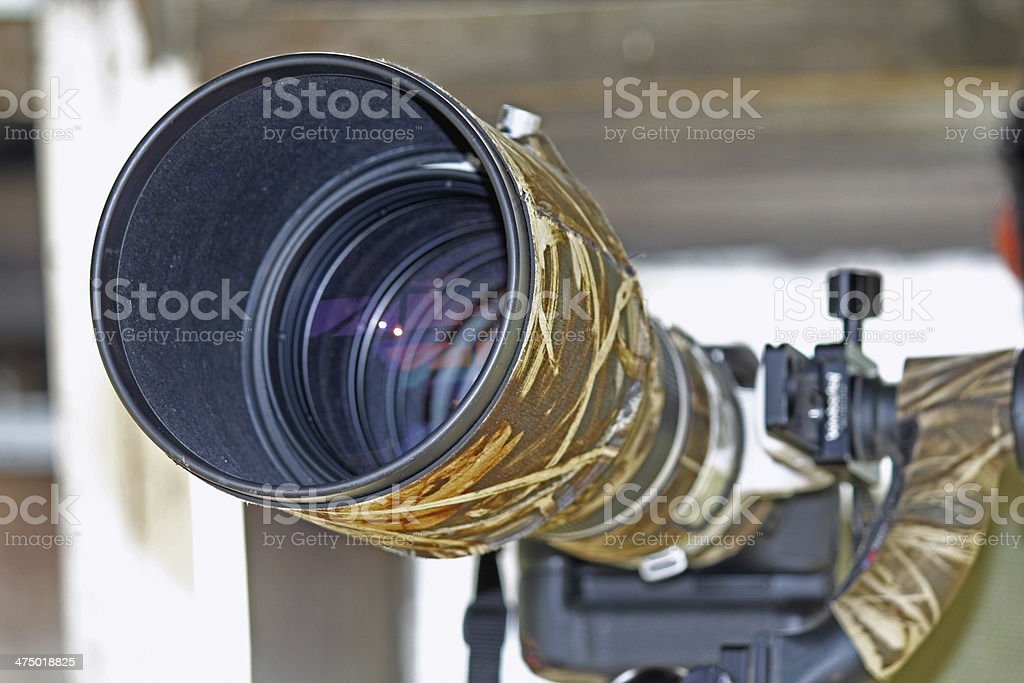 Super telephoto SLR camera lens royalty-free stock photo