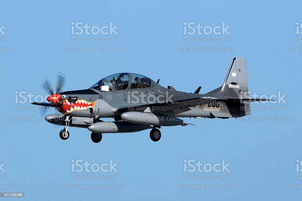 Super Tucano Delivery Flight stock photo
