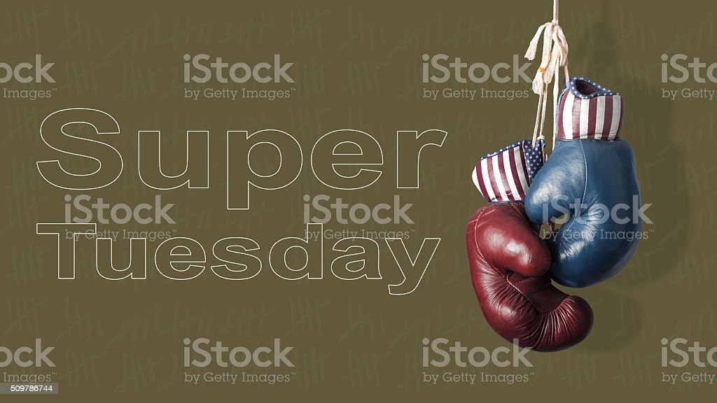 Super Tuesday in the United States of America stock photo