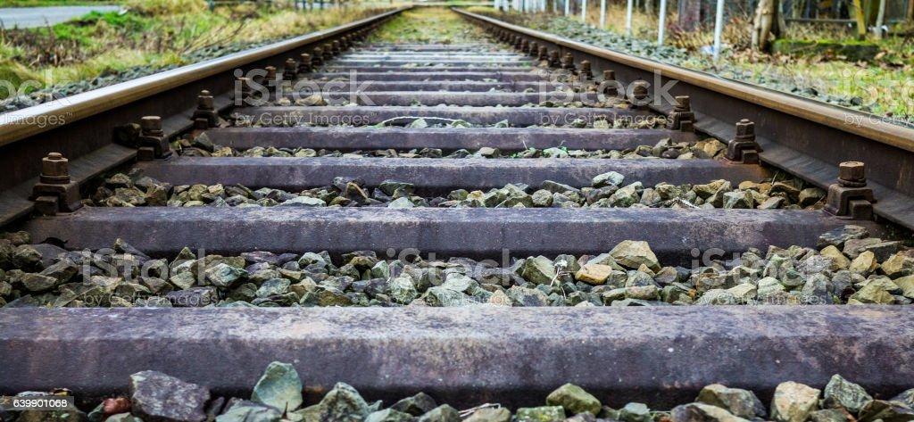 Super wide railways stock photo