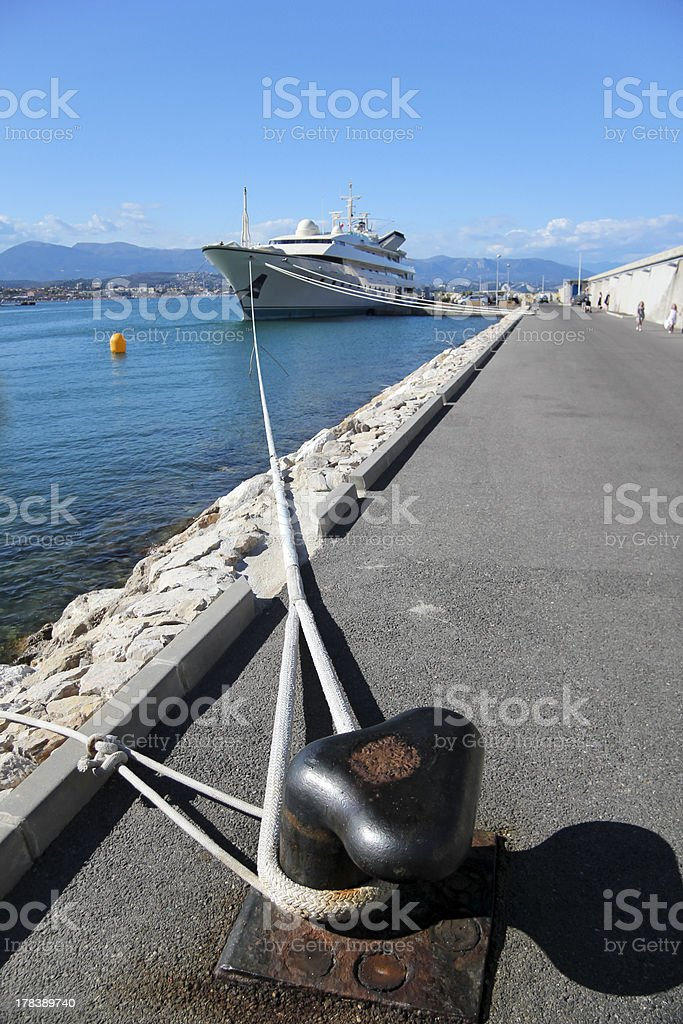 Super yacht antibes harbor french riviera royalty-free stock photo