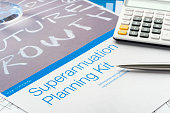 Superannuation planning brochure.