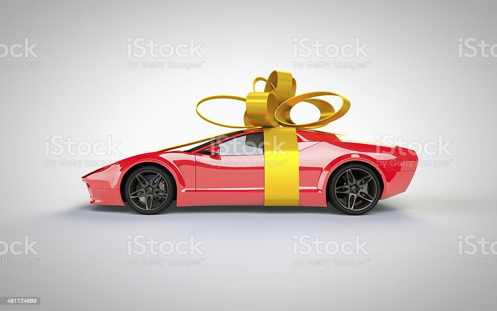 Superb Gift car present royalty-free stock photo
