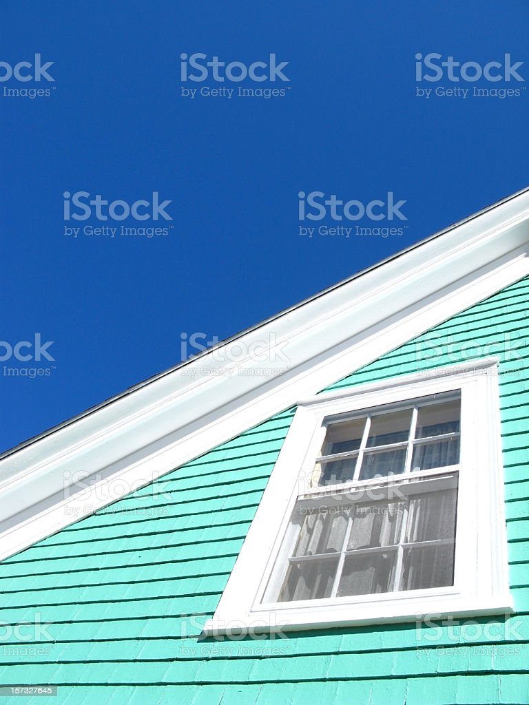 Superbright wooden house stock photo