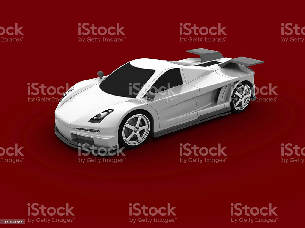 Supercar on Red royalty-free stock photo