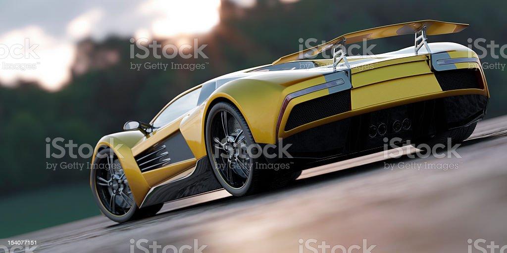 Supercar royalty-free stock photo