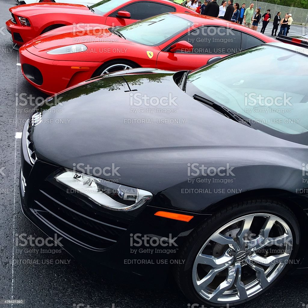 Supercars stock photo