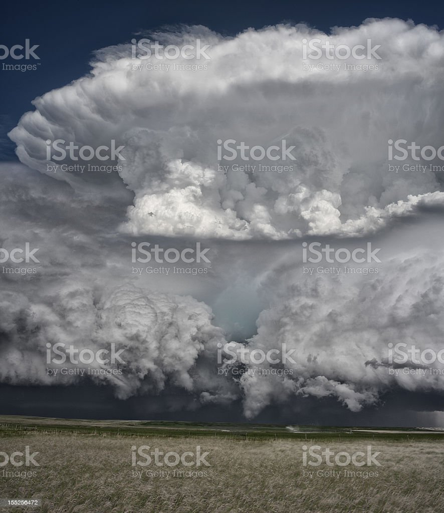Supercell Thunderstorm on the Great Plains stock photo