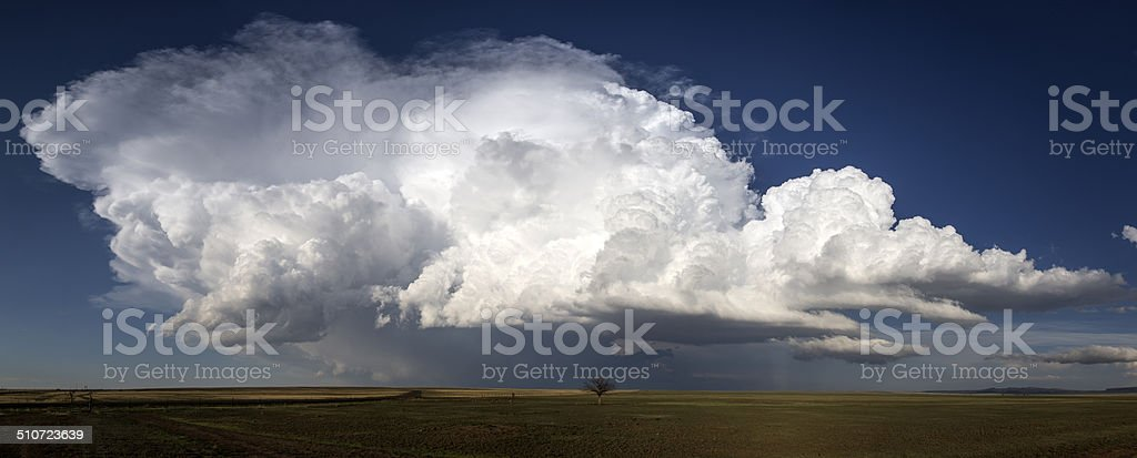Supercell Thunderstorm on the Great Plains, Tornado Alley, USA stock photo