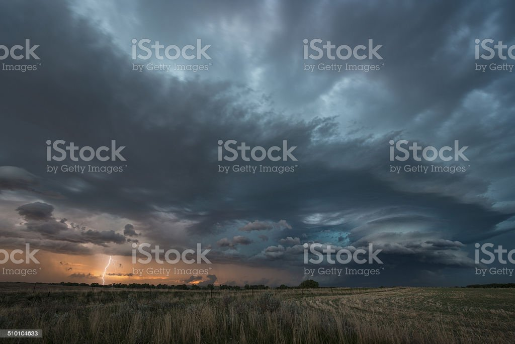 Supercell Thunderstorm stock photo