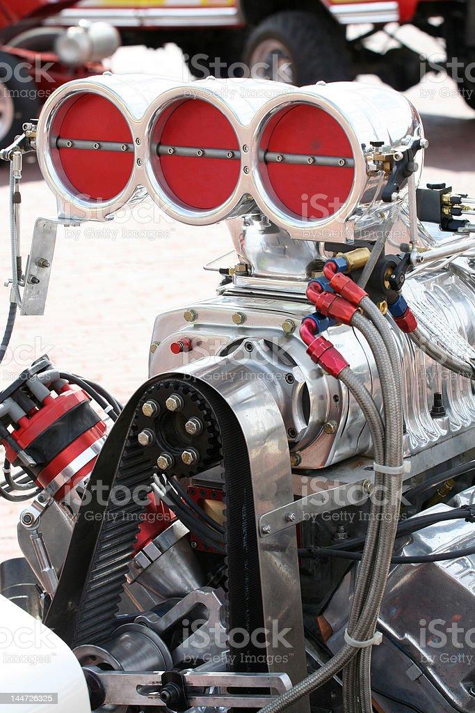 supercharged engine stock photo