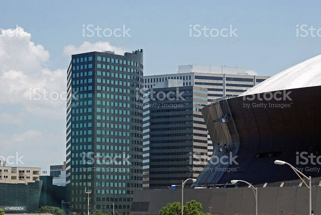 Superdome Facade Renovation stock photo