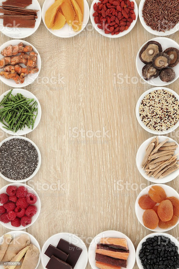 Superfood Border stock photo