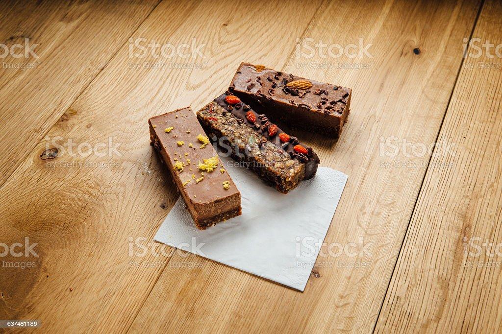 Superfood Chocolate Treats stock photo