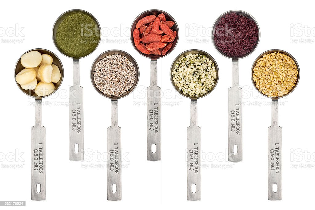 superfood set abstract stock photo
