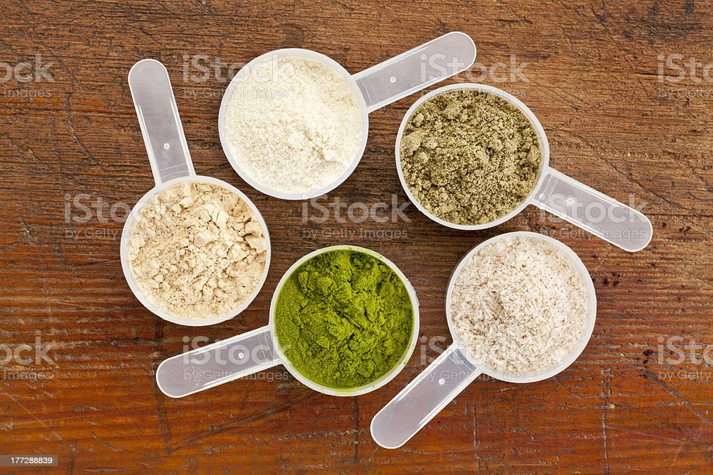 superfood supplement powder stock photo