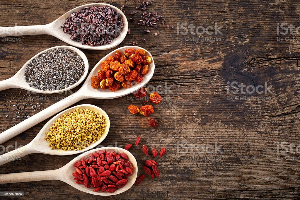 Superfoods stock photo