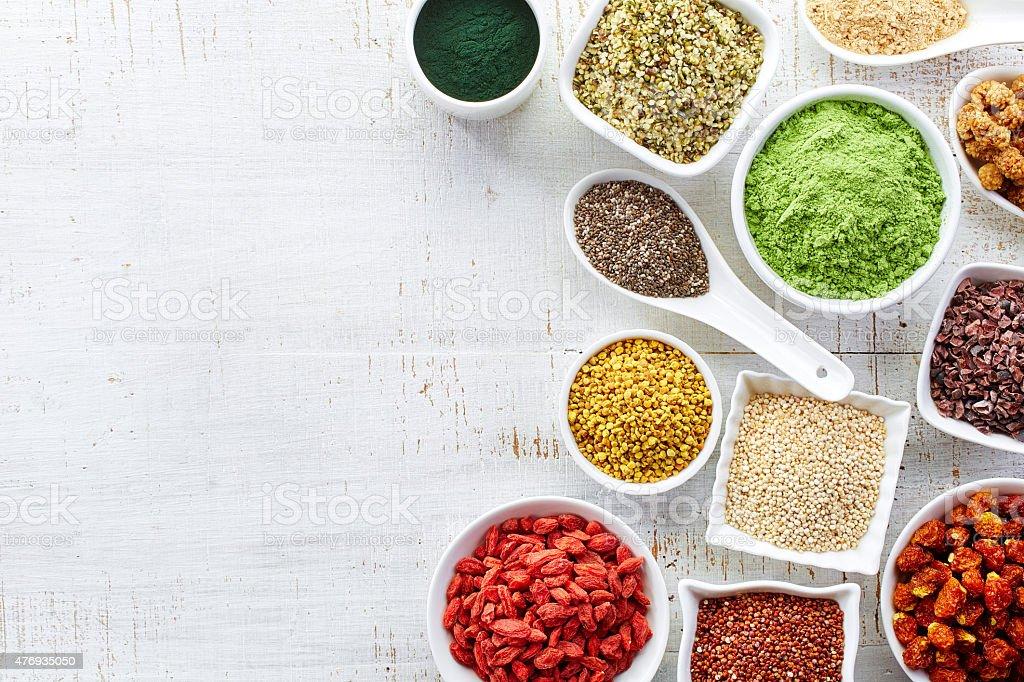 Superfoods stock photo