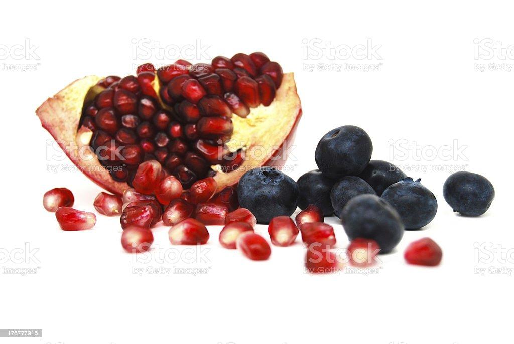 Superfruits on white background royalty-free stock photo