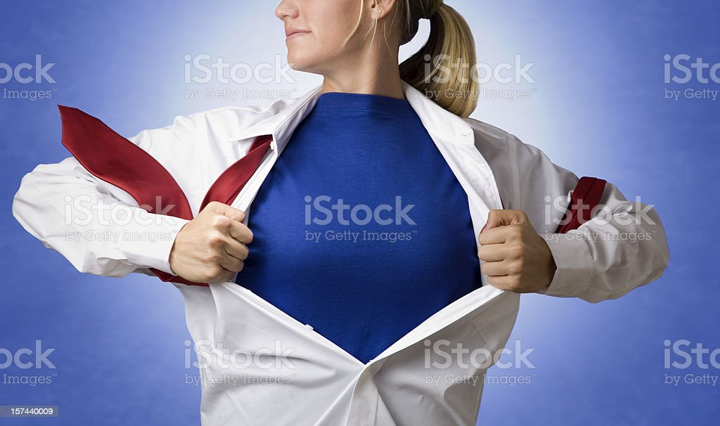 Supergirl royalty-free stock photo