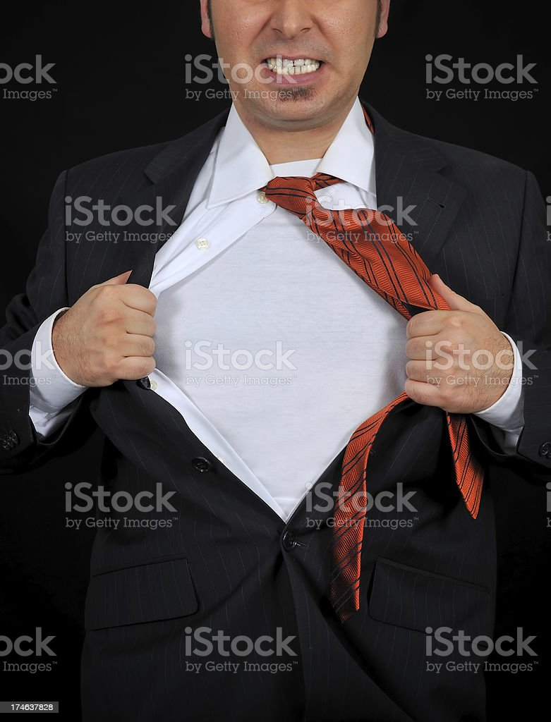 superhero add text or image to chest royalty-free stock photo