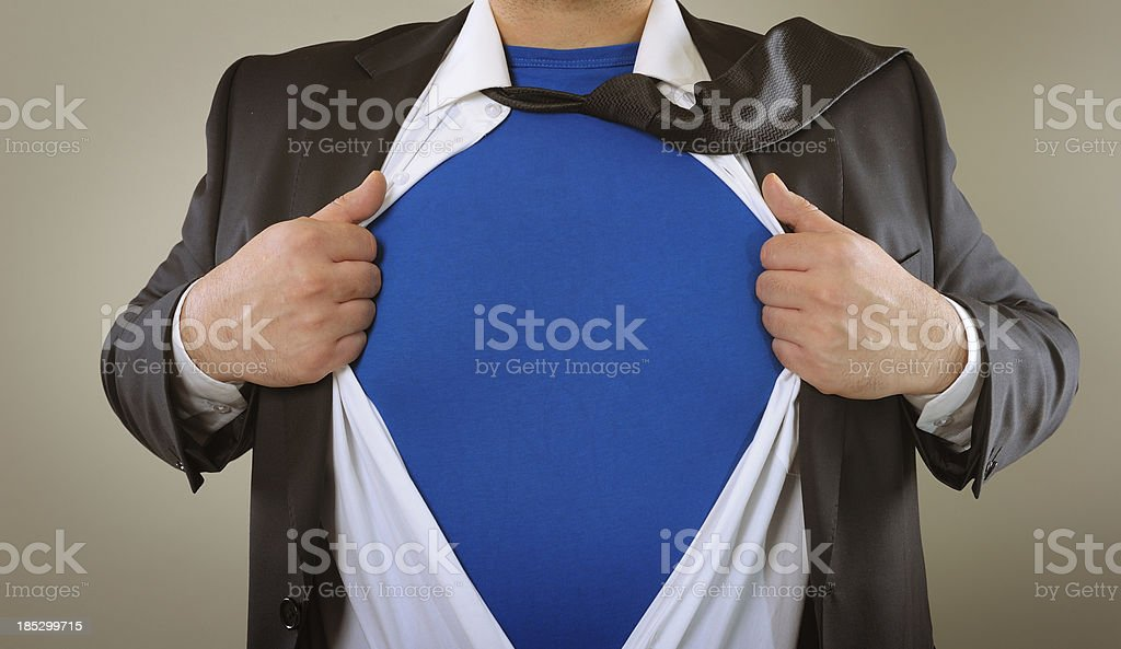 Superhero business person royalty-free stock photo