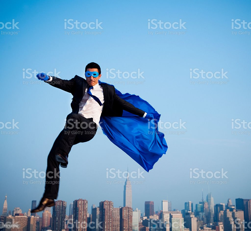 Superhero Business stock photo