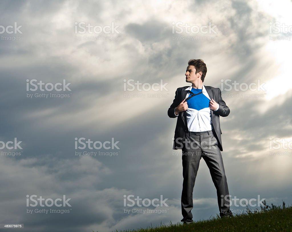 Superhero Businessman stock photo