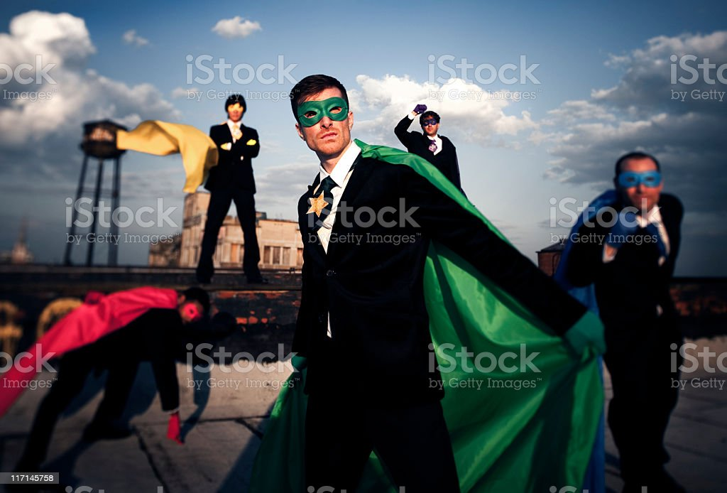 Superhero Businessmen royalty-free stock photo