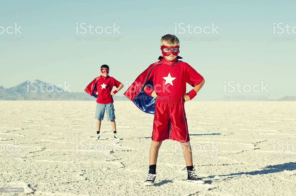 Superhero Duo stock photo